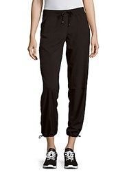 Andrew Marc New York Solid Drawstring Pants Black