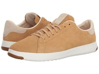 Cole Haan Grandpro Tennis Iced Coffee Suede Madras Lining Shoes Tan