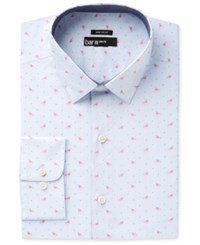 Bar Iii Men's Slim Fit Stretch Flamingo Print Dress Shirt Only At Macy's Pink