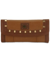 The Sak Iris Leather Flap Wallet Tobacco Staples