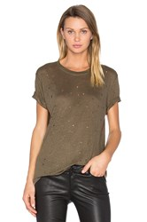 Iro Clay Distressed Tee Army