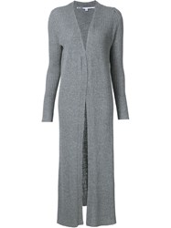 Just Female Ribbed Cardi Coat Grey
