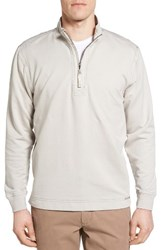 True Grit Men's Half Zip Pullover Smoke