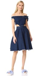 Natasha Zinko Twisted Ribbon Dress Denim