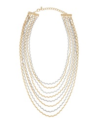Fragments For Neiman Marcus Fragments Two Tone Curly Chain Necklace Golden Silvertone