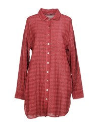 Boutique De La Femme Shirts Brick Red