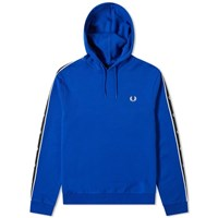 Fred Perry Authentic Taped Sleeve Popover Hoody Blue