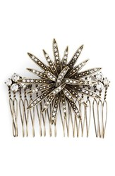 Berry Crystal Flower Hair Comb