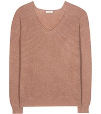 Nina Ricci Mohair And Wool Blend Sweater Brown