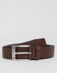 Tommy Hilfiger Aly Leather Belt In Brown Brown