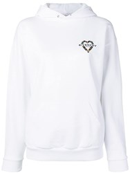 Givenchy Beaded Logo Hoodie White