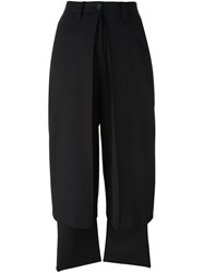 Aalto Draped Tailored Trousers Black