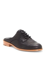 1.State Fea Leather Lace Up Mules Black