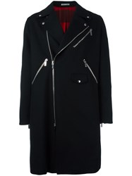 Christian Dior Homme Biker Coat Black