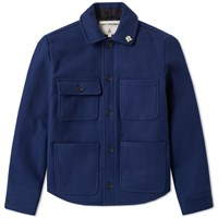Fidelity Wool 4 Pocket Work Jacket Blue