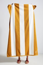 Anthropologie Istanbul Striped Beach Towel Maize