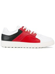 Salvatore Ferragamo Colour Block Sneakers White