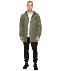 Huf Spike Scrawl Parka Olive Men's Coat