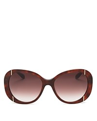 Moschino Oversized Quilted Sunglasses 56Mm Tortoise Gradient Lens