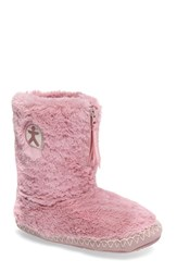 Bedroom Athletics Women's 'Marilyn' Faux Fur Slipper Boot Dusky Pink