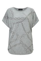 James Lakeland Chain Studded Top Grey