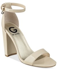 G By Guess Shantel Two Piece Sandals Women's Shoes Nude Patent