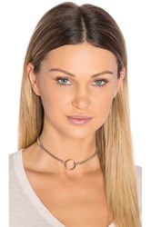 Vanessa Mooney Bonet Choker Metallic Silver