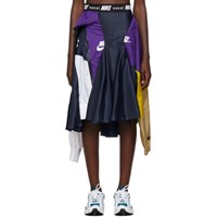 Nike Navy And Purple Sacai Edition W Nrg Ga Ni 03 Skirt