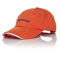 Vetements Wednesday Weekday Cotton Cap Orange