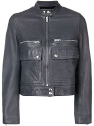 Zadig And Voltaire Love Cuir Leather Jacket Blue