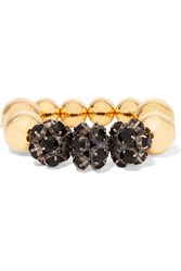 Marni Gold And Gunmetal Tone Crystal Bracelet Black