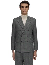 Lc23 Galles Double Breasted Wool Blazer Grey