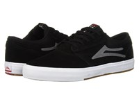 Lakai Griffin Black Grey Suede 1 Skate Shoes