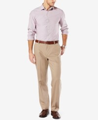 Dockers Men's Signature Relaxed Fit Khaki Flat Front Stretch Pants Timberwolf