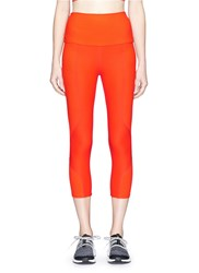 Live The Process 'The Superfino Geometric' Cropped Performance Leggings Red