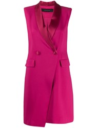 Federica Tosi Fitted Tuxedo Dress Pink