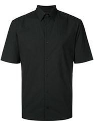 Christophe Lemaire Plain Shirt Men Cotton 46 Black