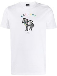 Paul Smith Ps Helloha T Shirt White