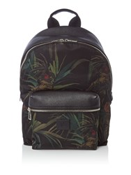 Paul Smith Leather Sport Backpack Black