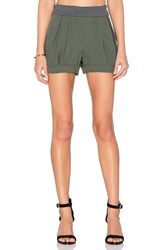 James Jeans Petal Pleated Short Green