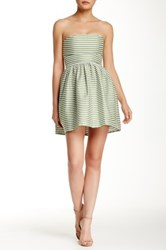 Necessary Objects Seersucker Tube Dress Green