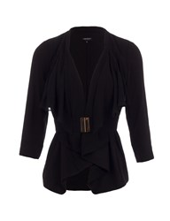 Morgan Belted Waterfall Style Jacket Black