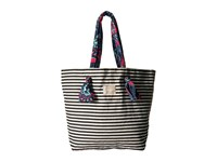 Roxy Act Together Tote Bright White Basic Strip Bags Multi