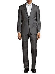 Michael Kors Woven Wool Suit Black White