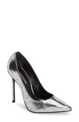 Topshop Women's Gamble Pointy Toe Pump Silver