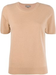 N.Peal Cashmere Short Sleeved Top Brown
