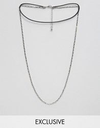 Designb London Choker And Chain Necklaces In Silver Silver