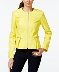 Inc International Concepts Faux Leather Peplum Jacket Only At Macy's