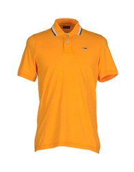 Napapijri Topwear Polo Shirts Men Orange
