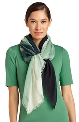 Women's Lafayette 148 New York 'Northern Lights' Wool Blend Scarf Green Verde Multi